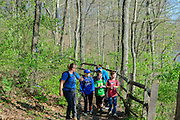 Photo of people hiking at Caesar Creek State Park, near Waynesville, Ohio, in Warren County.