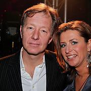 NLD/Amsterdam/20110124 - Uitreiking Beeld en Geluid awards 2010, Rick Nieman en partner Sacha de Boer
