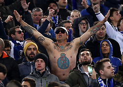 February 12, 2019 - Rome, Italy - Porto supporters at Olimpico Stadium during the UEFA Champions League round of 16, first leg football match AS Roma and FC Porto on February 12, 2019 at the Olympic stadium in Rome, Italy. (Credit Image: © Matteo Ciambelli/NurPhoto via ZUMA Press)