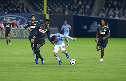 October 31, 2018 - New York, New York, United States - Maximiliano Moralez (10) of NYCFC tries to control ball during knockout round game between NYCFC & Philadelphia Union at Yankees stadium NYCFC won 3 - 1  (Credit Image: © Lev Radin/Pacific Press via ZUMA Wire)