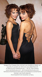 Singers The Cheeky Girls, MONICA & GABRIELA IRIMIA, at a party in London on 23rd January 2003.PGO 69