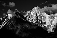 The peak of Gasherbrum IV, seen from Concordia on the Baltoro Glacier in Northern Pakistan.