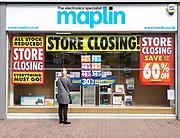 Maplin electronics specialist store closing High Street, Ipswich, Suffolk, England, UK