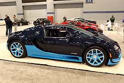 12 February 2015: Bugatti Veyron 16.4 Grand Sport Vitesse. <br /> <br /> First staged in 1901, the Chicago Auto Show is the largest auto show in North America and has been held more times than any other auto exposition on the continent. The 2015 show marks the 107th edition of the Chicago Auto Show. It has been  presented by the Chicago Automobile Trade Association (CATA) since 1935.  It is held at McCormick Place, Chicago Illinois