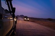 Travelling during dusk in Northern Kenya's Samburu region.