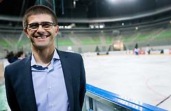 Matjaz Rakovec, president of HZS during first practice session of Slovenian National Ice Hockey team in Arena Stozice before 2012 IIHF World Championship DIV I Group A in Slovenia, on April 13, 2012, in Arena Stozice, Ljubljana, Slovenia. (Photo by Vid Ponikvar / Sportida.com)