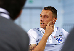 England's Phil Jones speaks during the press conference - Mandatory by-line: Matt McNulty/JMP - 31/08/2017 - FOOTBALL - St George's Park National Football Centre - Burton-upon-Trent, England - England Training and Press Conference