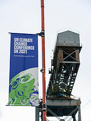 Glasgow, Scotland, UK. 23rd October 2021. Views of the site during final preparations with one week till opening  of UN Climate Change Conference UK COP26 which is being held in Glasgow in 2021.  Iain Masterton/Alamy Live News.