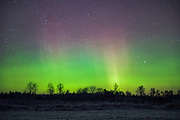 The dancing curtain of Northern lights on New Years eve, Northern Vidzeme, Latvia Ⓒ Davis Ulands | davisulands.com