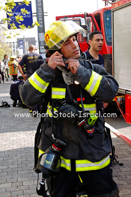 fire fighter and his equepment