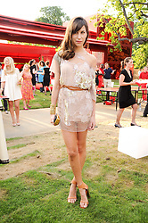 CAROLINE SIEBER at the annual Serpentine Gallery Summer party this year sponsored by Jaguar held at the Serpentine Gallery, Kensington Gardens, London on 8th July 2010.  2010 marks the 40th anniversary of the Serpentine Gallery and the 10th Pavilion.