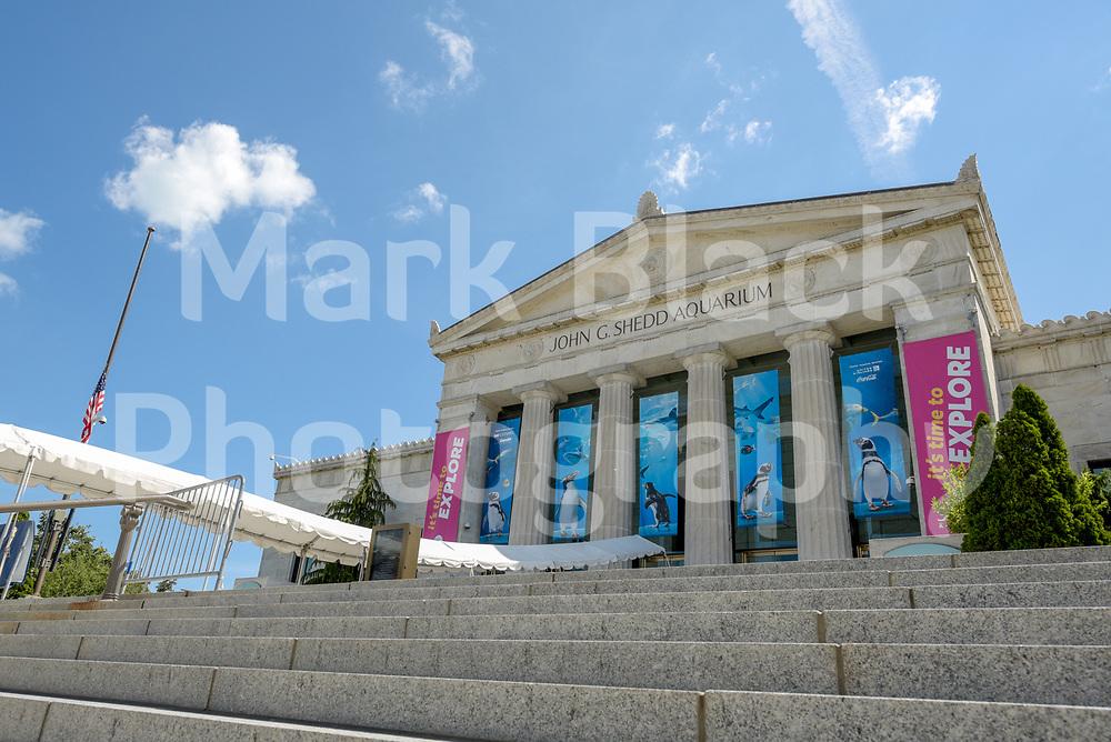 The historic John G. Shedd Aquarium along Lake Michigan in Chicago, Illinois.<br /> Photo by Mark Black