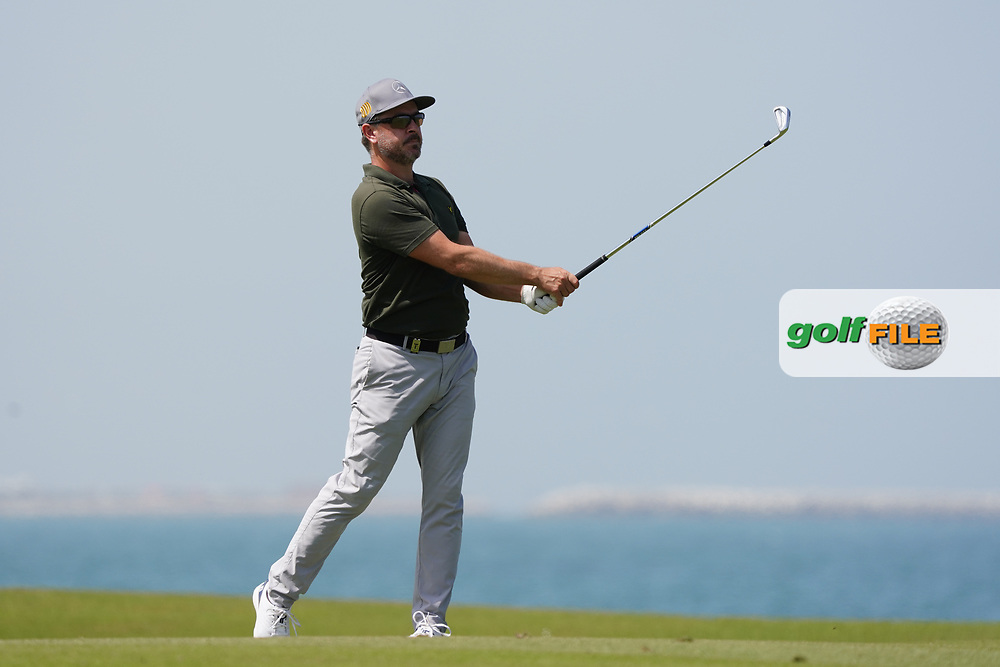 Mikko Korhonen (FIN) on the 9th during Round 3 of the Oman Open 2020 at the Al Mouj Golf Club, Muscat, Oman . 29/02/2020<br /> Picture: Golffile | Thos Caffrey<br /> <br /> <br /> All photo usage must carry mandatory copyright credit (© Golffile | Thos Caffrey)