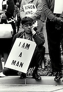 I Am A Man,made during a Memphis sanitation workers strike. photograph by Dennis Brack