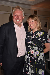Nick Ferrari and partner Clare Patterson at the Fortnum & Mason Food and Drink Awards, Fortnum & Mason Food and Drink Awards, London, England. 10 May 2018.