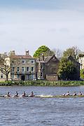 Hammersmith, London, United Kingdom, Saturday, 24/04/2021, General View,  Hammersmith Regatta, Corney Reach,  River Thames, [Mandatory Credit; Pete Spurrier],