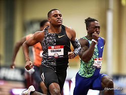 2020 USATF Indoor Championship<br /> Albuquerque, NM 2020-02-15<br /> photo credit: © 2020 Kevin Morris<br /> mens 60m heats, Nike