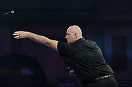 James Bailey winning the first leg of the match, and his first ever leg in a PDC World Championship, during the Darts World Championship 2018 at Alexandra Palace, London, United Kingdom on 18 December 2018.