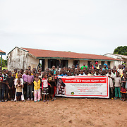 The team and children after a HCT session in rural Makurdi. All 120 children turned out to be negative. EVA provide HCT in three rural communities near Makurdi in Benue state. Benue state has got one of the highest HIV prevalence in Nigeria and EVA aim to target vulnerable children who would otherwise miss out of being tested for HIV and therefor not know their HIV statues.  Education As a Vaccine Against Aids (EVA) in Nigeria.