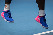 Serena Williams of the U.S. in action against Russia's Anastasia Potapova during a third-round match at the 2021 Australian Open at Melbourne Park in Melbourne, Australia.