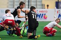 NEW DELHI - tijdens de derde poulewedstrijd in de finaleronde van de Hockey World League tussen de mannen van Nieuw-Zeeland en Engeland.  ANP KOEN SUYK
