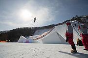 Redmond Gerard, USA, during the mens snowboard slopestyle finals at the Pyeongchang Winter Olympics on the 11th February 2018 in Phoenix Snow Park in South Korea