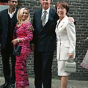 Huwelijk Patrick Kluivert en Angela van Hulten Amsterdam, Aron Winter en vrouw Yvonne Roose, Louis van Gaal en vrouw Truus Opmeer