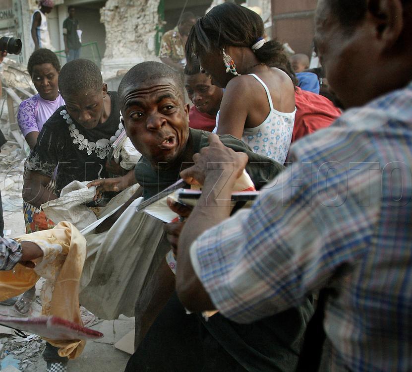 Earthquake aftermath in Haiti on Sunday, January 24, 2010..