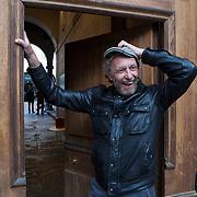 Piccolo Teatro Grassi, Milano, Italia, 3 Aprile 2021. Enrico Vezzelli, 58 anni, attore e clown di corsia.