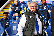 Peterborough United manager Steve Evans  before the EFL Sky Bet League 1 match between Peterborough United and Accrington Stanley at London Road, Peterborough, England on 20 October 2018.