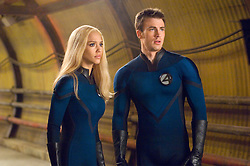 RELEASE DATE: June 15, 2007. STUDIO: 20th Century Fox. PLOT: The Fantastic Four learn that they aren't the only super-powered beings in the universe when they square off against the powerful Silver Surfer and the planet-eating Galactus. PICTURED: JESSICA ALBA as Sue Storm and CHRIS EVANS as Johnny Storm are troubled by events surrounding the appearance of the Silver Surfer. (Credit Image: © Entertainment Pictures/Entertainment Pictures/ZUMAPRESS.com)
