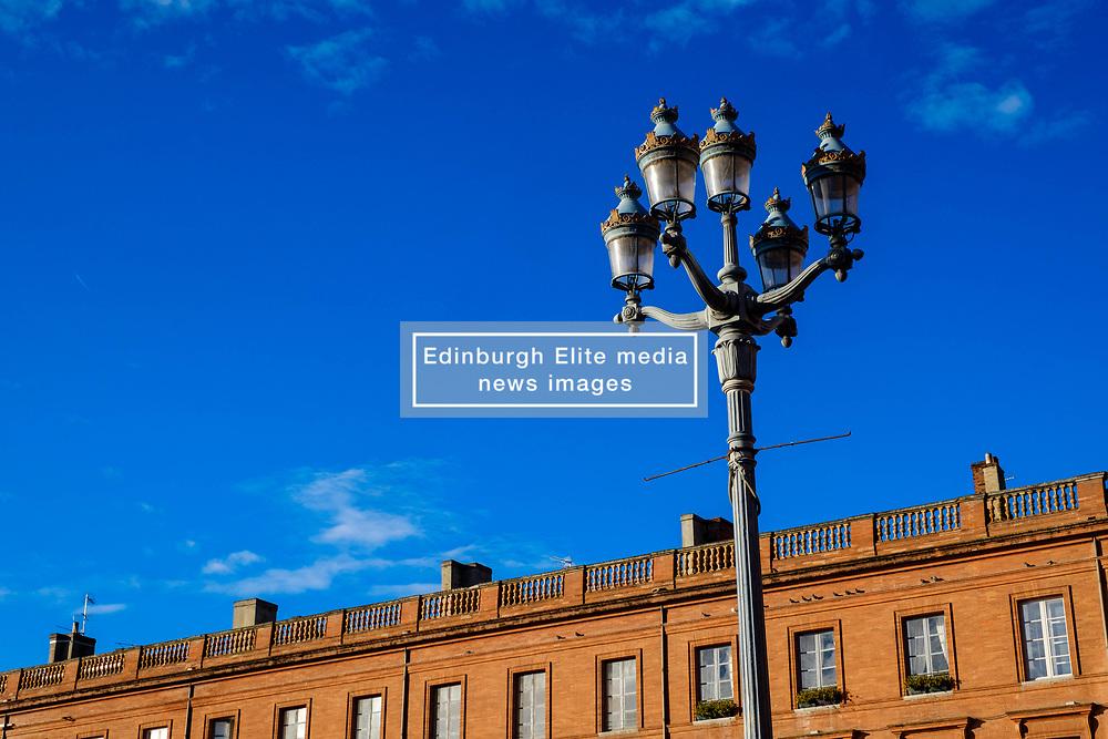 Street light in the Place du Capitol, Toulouse, France<br /> <br /> (c) Andrew Wilson | Edinburgh Elite media