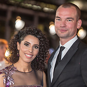 NLD/Amsterdam/20171012 - Televizier-Ring Gala 2017, Siham Raijoul en Joris Marseille