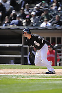 CHICAGO - APRIL 17:  Gordon Beckham #15 of the Chicago White Sox bats against the Los Angeles Angels of Anaheim on April 17, 2011 at U.S. Cellular Field in Chicago, Illinois.  The Angels defeated the White Sox 4-2.  (Photo by Ron Vesely)  Subject:  Gordon Beckham