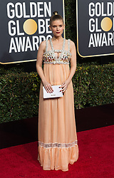 January 6, 2019 - Beverly Hills, California, United States of America - Kate Mara attends the 76th Annual Golden Globe Awards at the Beverly Hilton in Beverly Hills, California on  Sunday, January 6, 2019. HFPA/POOL/PI (Credit Image: © Prensa Internacional via ZUMA Wire)
