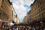 May Day celebrations and street festival in Kreuzberg, Berlin, Germany