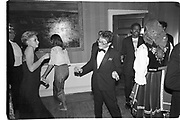 Kasmin at Kasmin's birthday. Lindy and Sheridan Duffferin's house in Holland Park. London. 1984. SUPPLIED FOR ONE-TIME USE ONLY> DO NOT ARCHIVE. © Copyright Photograph by Dafydd Jones 248 Clapham Rd.  London SW90PZ Tel 020 7820 0771 www.dafjones.com