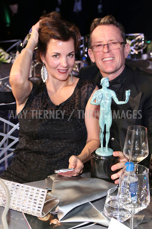 Margaret Colin, and guest