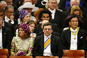 EU Commission President Jose Manuel Barroso, front center, awaits the inauguration of King Willem-Alexander at Nieuwe Kerk or New Church in Amsterdam, The Netherlands, Tuesday April 30, 2013. HANDOUT/MICHAEL KOOREN