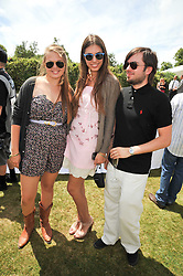 Left to right, Tallulah LE BON, AMBER LE BON and DANNY LAITHWAITE at a luncheon hosted by Cartier for their sponsorship of the Style et Luxe part of the Goodwood Festival of Speed at Goodwood House, West Sussex on 5th July 2009.