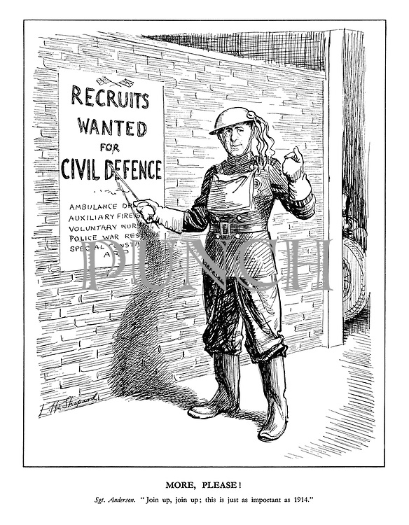 """More Please! Sgt. Anderson. """"Join up, join up; this is just as important as 1914."""