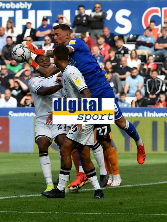 Football - 2021 / 2022 EFL Sky Bet Championship - Swansea City vs Hull City - Liberty Stadium - <br /> <br /> Ben Hamer Swansea City saves<br /> <br /> COLORSPORT/WINSTON BYNORTH
