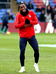 Crystal Palace's Michy Batshuayi warms up on the pitch prior to the Premier League match at Selhurst Park, London.