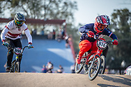 #974 (MAYET Romain) FRA during practice at Round 9 of the 2019 UCI BMX Supercross World Cup in Santiago del Estero, Argentina