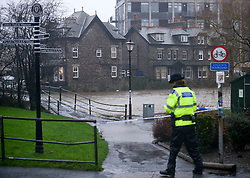 (c) Licenced to London News Pictures 05/12/2015. Kendal, Cumbria, UK. Storm Desmond hits Kendal and causes widespread flooding in the area. People living near the River Kent are asked to evacuate their homes. Photo credit : Harry Atkinson/LNP