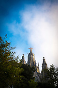 """Temple Expiatori del Sagrat Cor -  Expiatory Church of the Sacred Heart of Jesus, Tibidabo, Barcelona. Designed by architect Enric Sagnier. This mage can be licensed via Millennium Images. Contact me for more details, or email mail@milim.com For prints, contact me, or click """"add to cart"""" to some standard print options."""