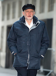 © Licensed to London News Pictures. 28/01/2018. London, UK. Labour party leader JEREMY CORBYN arrives at BBC Broadcasting House in London ahead of an appearance on The Andrew Marr Show on BBC One. Photo credit: Ben Cawthra/LNP