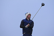 Gavin Fitzmaurice (Balcarrick) on the 1st tee during Round 3 of The West of Ireland Open Championship in Co. Sligo Golf Club, Rosses Point, Sligo on Saturday 6th April 2019.<br /> Picture:  Thos Caffrey / www.golffile.ie