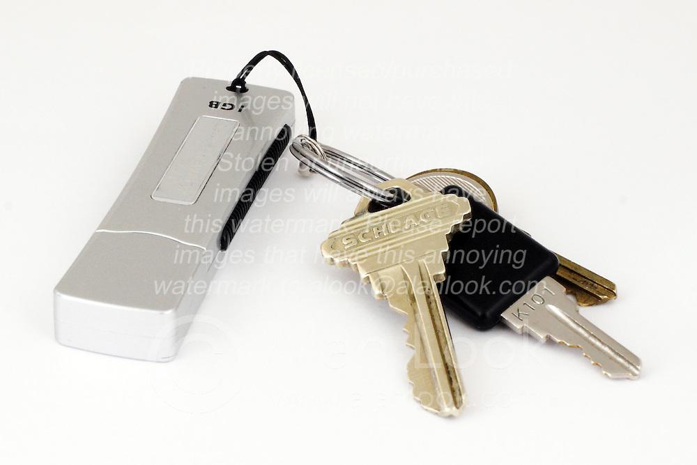 26 July 2006 Keys on a keyring with a usb memory stick