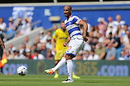 Karl Henry of QPR in action. Skybet EFL championship match, Queens Park Rangers v Leeds United at Loftus Road Stadium in London on Sunday 7th August 2016.<br /> pic by John Patrick Fletcher, Andrew Orchard sports photography.
